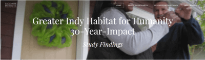Indy Habitat for Humanity study shows homeowners earn more, spend less